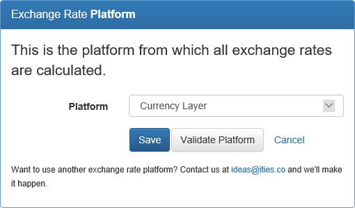 Exchange Rate Platform Selection
