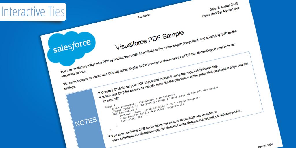 Visualforce Page Rendered As Pdf