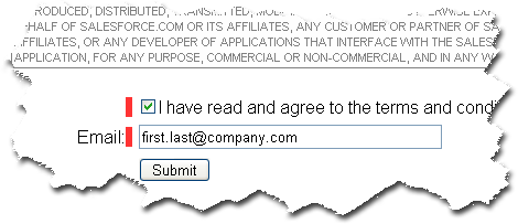 Agree to the Application Terms