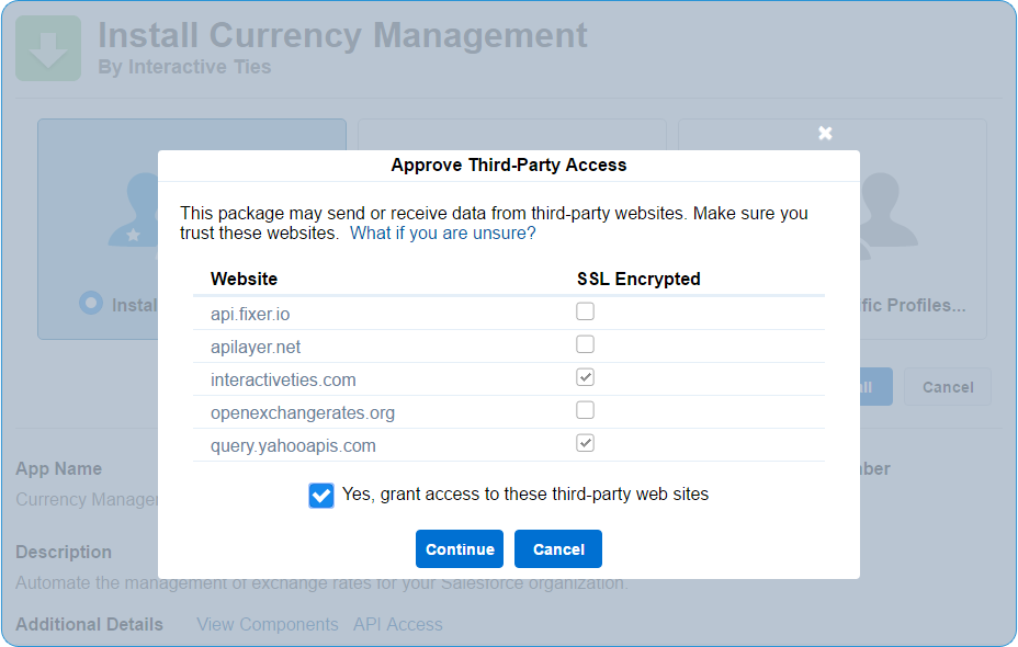 Allow for Third Party Access